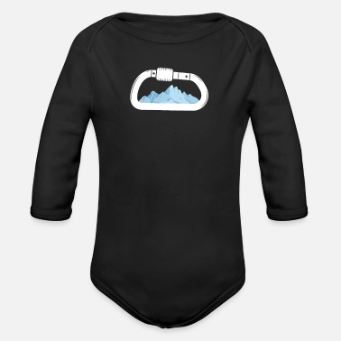Rock Climbing mountains mountain sports - Organic Long-Sleeved Baby Bodysuit