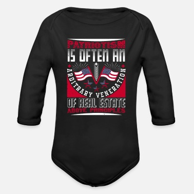 Fatherland Patriotism is ... friend of the fatherland - Organic Long-Sleeved Baby Bodysuit