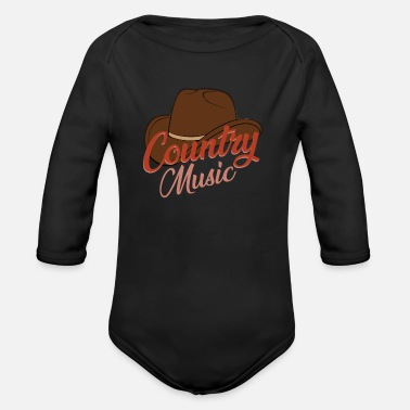 Country Music Country music - Organic Longsleeve Baby Bodysuit