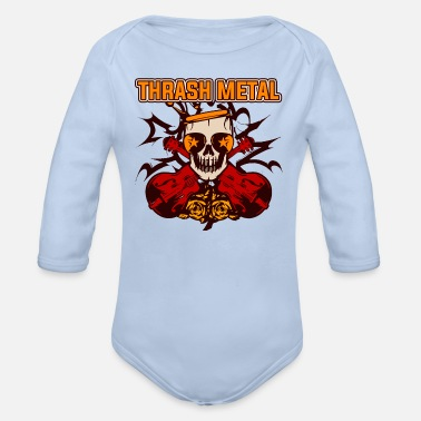 Thrash Thrash Metal - Organic Long-Sleeved Baby Bodysuit