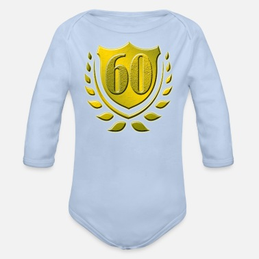 60th 60th, 60th birthday - Organic Long-Sleeved Baby Bodysuit