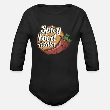 Food Addict Würziger Food Addict Foodie Fun - Baby Bio Langarmbody