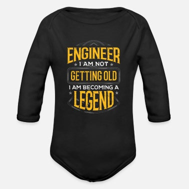 Major Engineer Gift Idea Engineer I Am Not Getting Old - Organic Long-Sleeved Baby Bodysuit