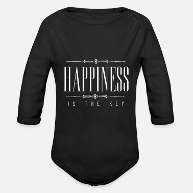 Word Of Wisdom Say word of wisdom gift happy - Organic Long-Sleeved Baby Bodysuit