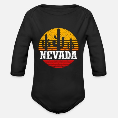 Nevada Usa Nevada - Organic Long-Sleeved Baby Bodysuit