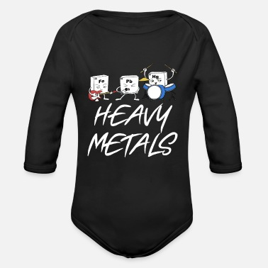 Heavy Heavy metals - Organic Long-Sleeved Baby Bodysuit