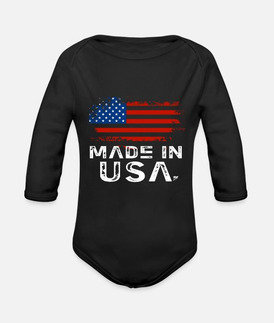 Citizen Baby Clothes - Made In USA - Organic Long-Sleeved Baby Bodysuit black