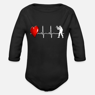 Paintball Paintball - Organic Longsleeve Baby Bodysuit