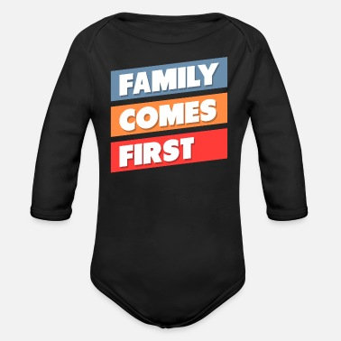 Family With Several family - Organic Long-Sleeved Baby Bodysuit