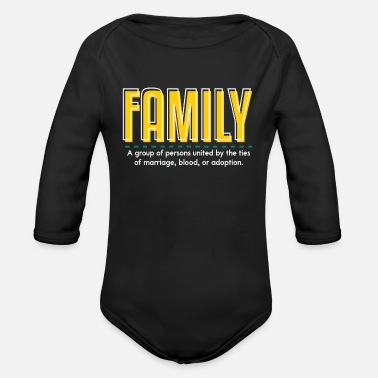 Family With Several Family is family - Organic Long-Sleeved Baby Bodysuit