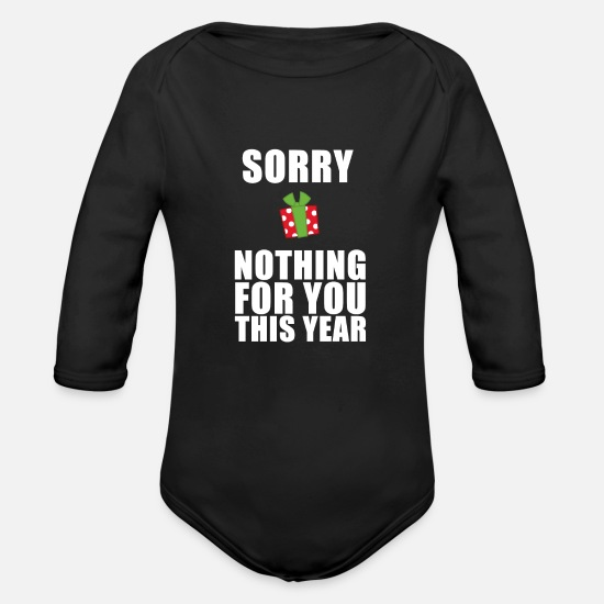 Make A Present Baby Clothes - no presents - Organic Long-Sleeved Baby Bodysuit black