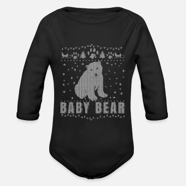 Dad Family Partner Look Dad Mom Baby Bear Ugly Shirt - Organic Long-Sleeved Baby Bodysuit