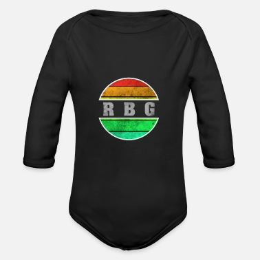 Gay Pride RBG Feminism Against Right Racism LGBTQ Antifa - Organic Long-Sleeved Baby Bodysuit