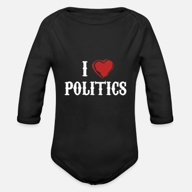 Politics politics - Organic Long-Sleeved Baby Bodysuit