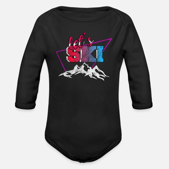 Skipper Baby Clothes - ski - Organic Long-Sleeved Baby Bodysuit black