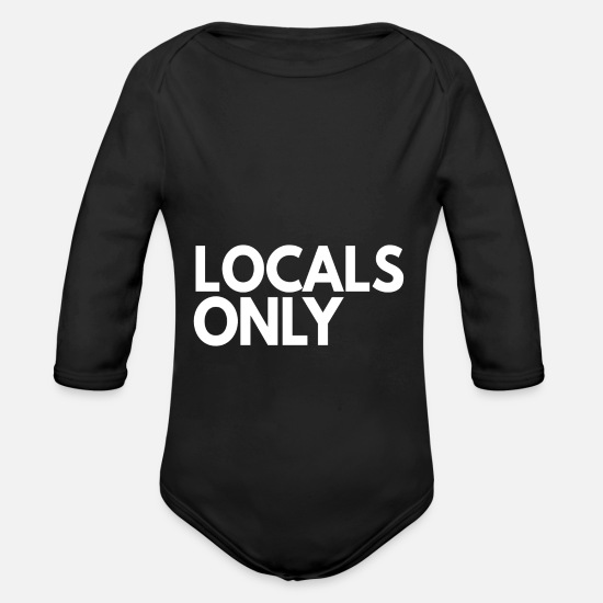 Gift Idea Baby Clothes - Locals Only - Organic Long-Sleeved Baby Bodysuit black