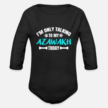 Owner Azawakh owner owner - Organic Long-Sleeved Baby Bodysuit