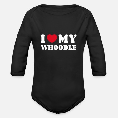 Dog Owner I love my whoodle - Organic Long-Sleeved Baby Bodysuit