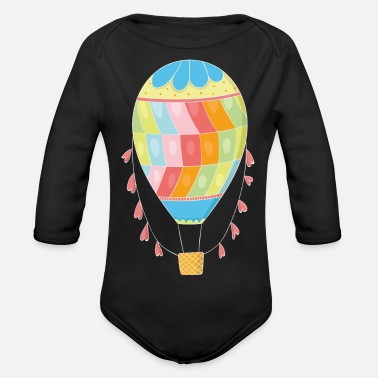 Hot Air Balloon Hot air balloon balloon ride - Organic Longsleeve Baby Bodysuit