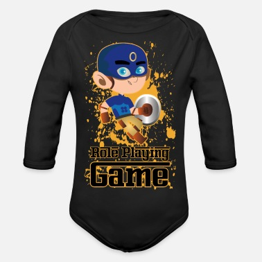 Role Playing Game Role playing game - cartoon - Organic Longsleeve Baby Bodysuit