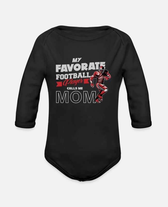 Touch Down Baby Bodysuits - Football, American football, college football - Organic Long-Sleeved Baby Bodysuit black