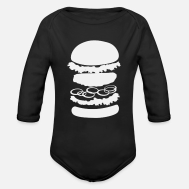 Hunger Burger | Burgers Cheeseburger Hamburger Patty Bun - Baby Bio Langarmbody
