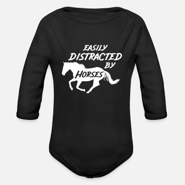 Horse Farm Horse Riding Horses Farm - Organic Long-Sleeved Baby Bodysuit