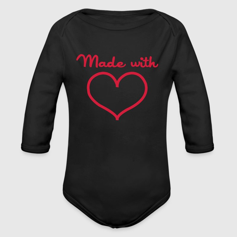 Made with love - Baby Bio-Langarm-Body