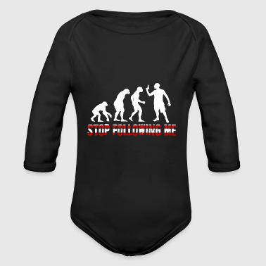 The Evolution Stop Following me - Organic Longsleeve Baby Bodysuit