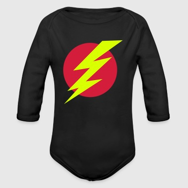 Flash with circle - Organic Longsleeve Baby Bodysuit