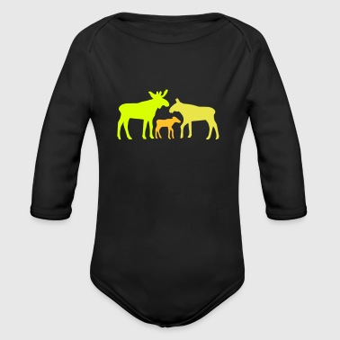 Moose family is - Økologisk langermet baby-body