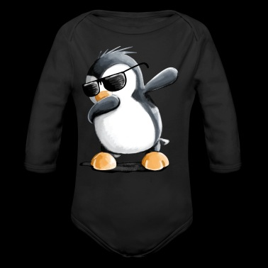 Dabbing Pinguin - Dab Dance - Cool - Comic - Fun - Baby Bio-Langarm-Body