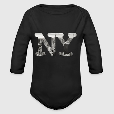 New York City Panorama - Baby Bio-Langarm-Body