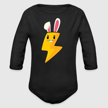 Electrician electricity easter bunny easter gift bunny - Organic Longsleeve Baby Bodysuit