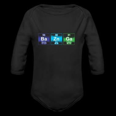 BA ZN GA Physicist Gift Big Bang - Organic Longsleeve Baby Bodysuit
