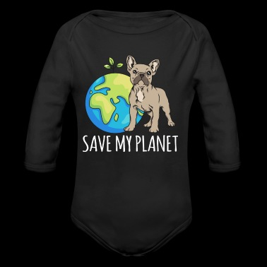 French Bulldog Earth Day Gift Umwel - Ekologisk långärmad babybody