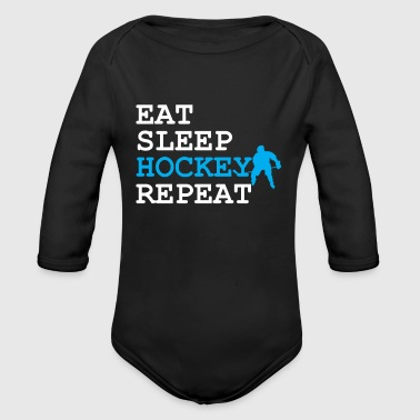 Mangez Sleep Hockey Repeat - Body bébé bio manches longues
