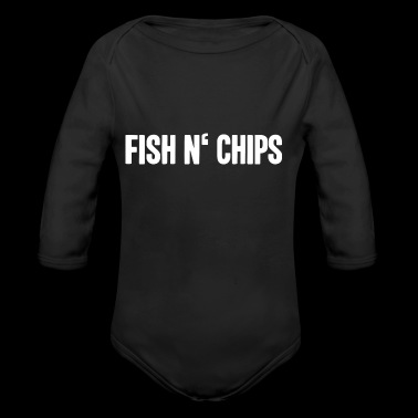 Fish and chips English food shirt - Organic Longsleeve Baby Bodysuit
