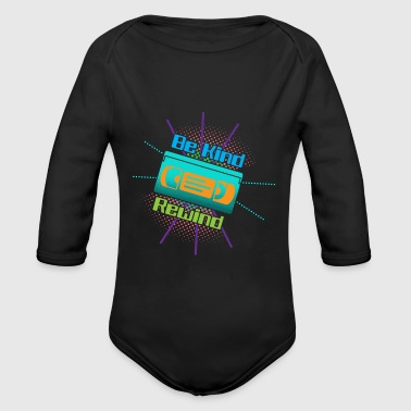 Funny VHS VCR Vintage 90s 80s - Organic Longsleeve Baby Bodysuit