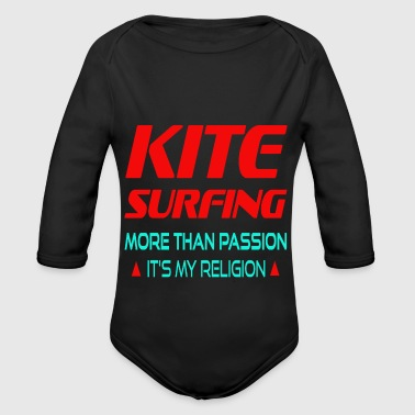 KITESURFING - MORE THAN PASSION ITS MY RELIGION - Baby Bio-Langarm-Body