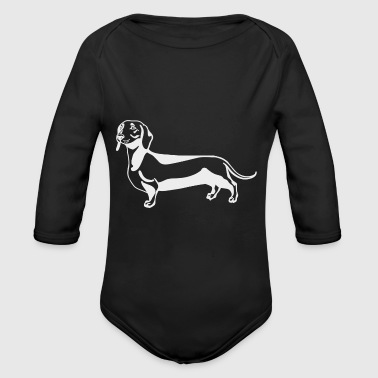 Hot dog - Organic Longsleeve Baby Bodysuit
