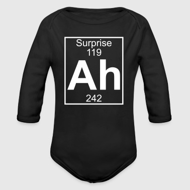 Ah - the Element of Surprise - Organic Longsleeve Baby Bodysuit