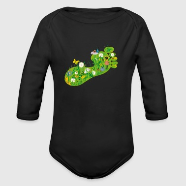 ecological Footprint - Organic Longsleeve Baby Bodysuit