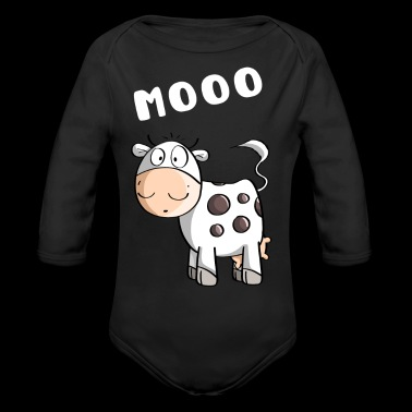 Little Mooo Cow - Vaches - Comic - Body bébé bio manches longues