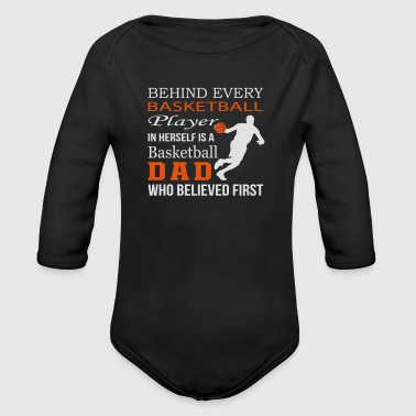 In Herself Is A Basketball Dad - Organic Longsleeve Baby Bodysuit