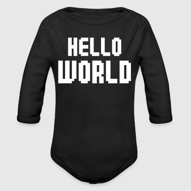 Hello World - Baby Bio-Langarm-Body