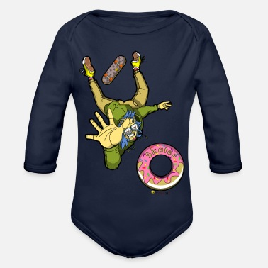Skater Skater - Organic Long-Sleeved Baby Bodysuit