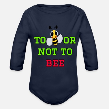 Bee to bee or not to bee - Fleeting Bee - Organic Long-Sleeved Baby Bodysuit