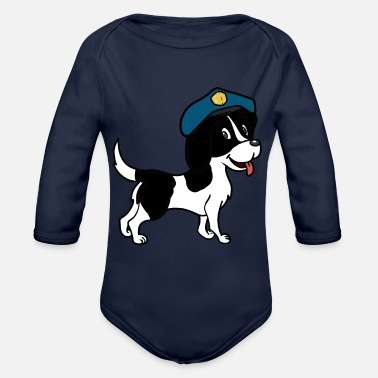Police Dog Dog police dog dogs watchdog pets police - Organic Long-Sleeved Baby Bodysuit