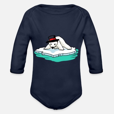 Polar Bear Polar bear polar bears - Organic Long-Sleeved Baby Bodysuit